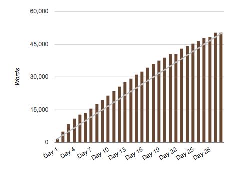 My NaNoWriMo 2013 stats
